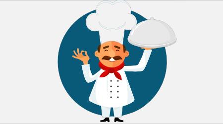 Figura simbolizando um chef de cozinha para representar o curso de Qualificação Profissional